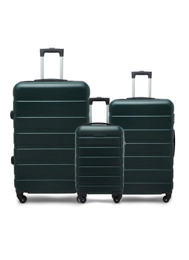 Buratti Buratti 3'Lü Unisex Valiz Set 533TITANIC Yeşil